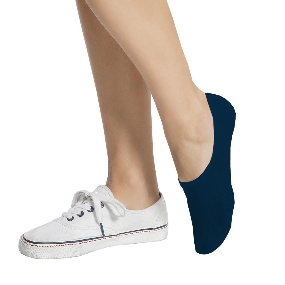 Calcetin invisible algodón  pack 3 azul