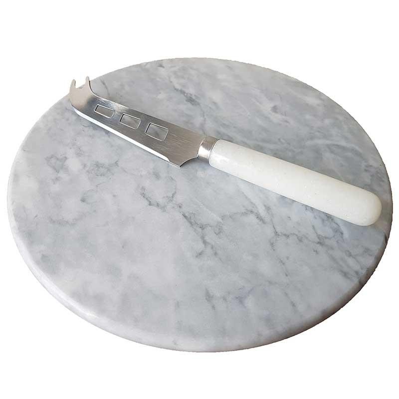 Tabla queso con cuchillo marble