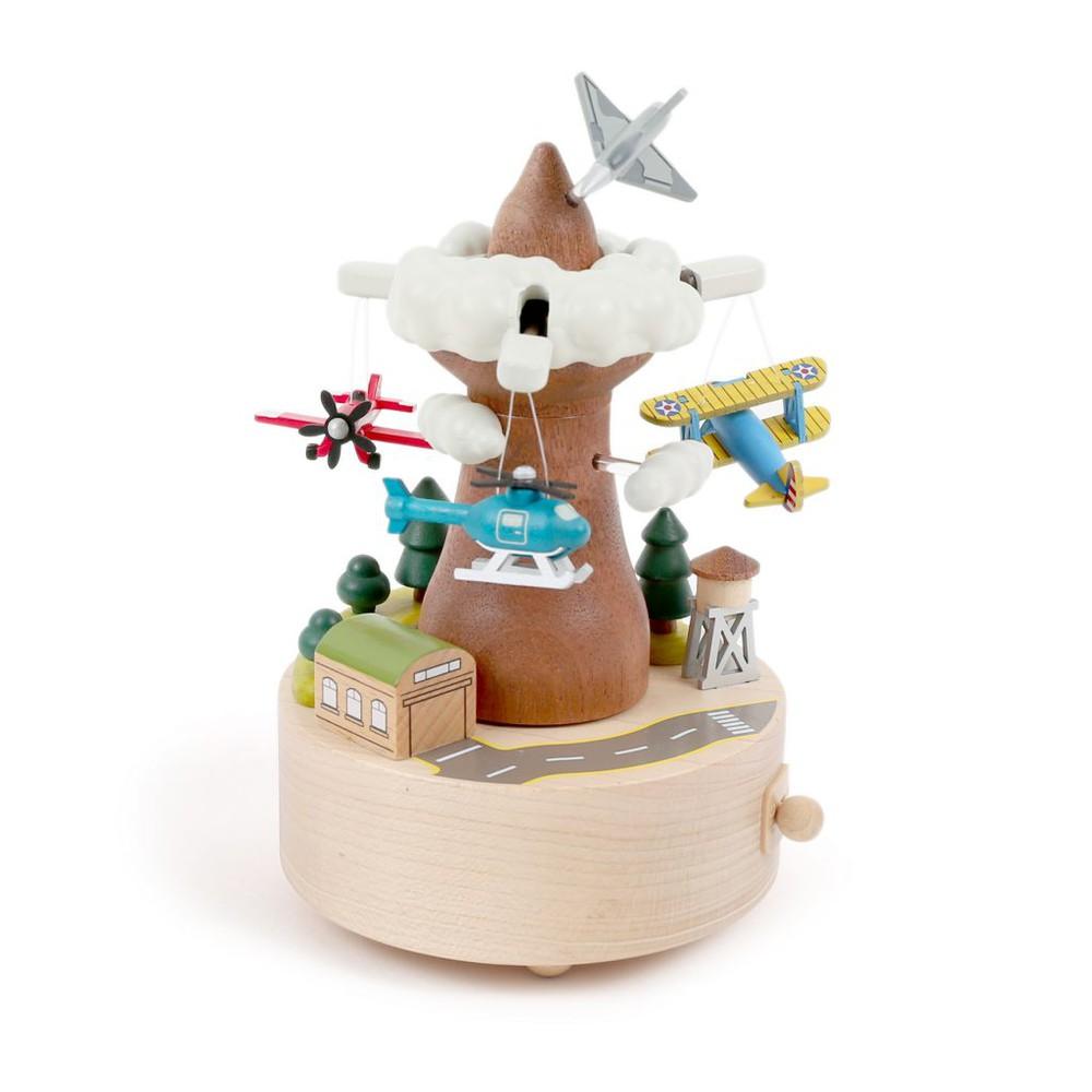 Caja musical madera regalo aviones