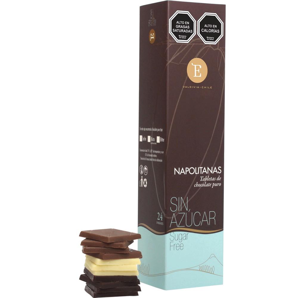 Napolitanas chocolate puro sin azúcar 120 g