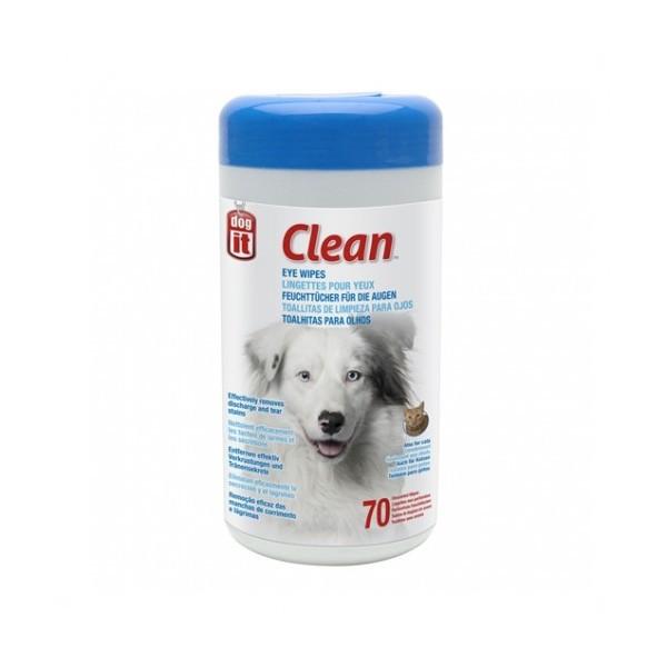 Toallitas de limpieza de ojos perros y gatos 70 unidades