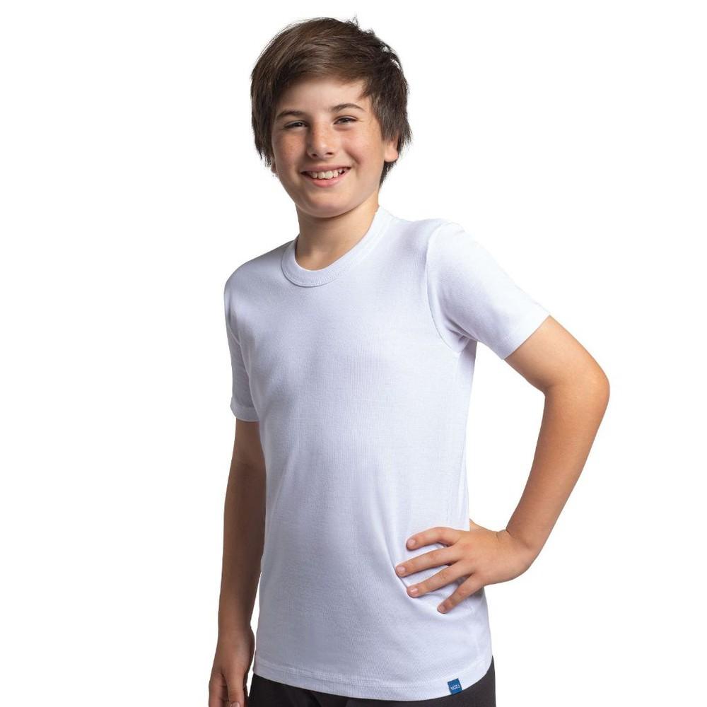 Camiseta juvenil algodón manga corta unisex pack 2 MT4425 blanco