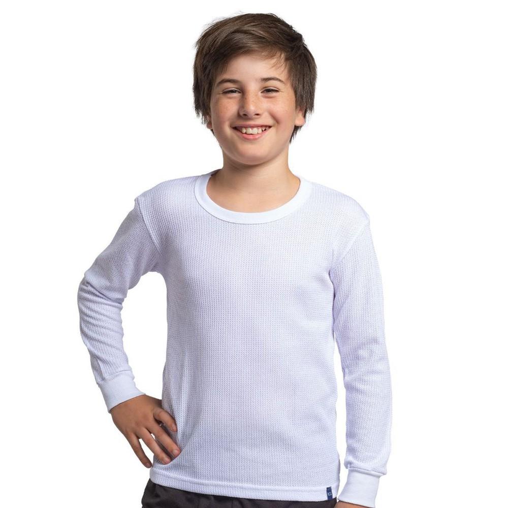 Camiseta juvenil térmica manga larga unisex MT4432 blanco