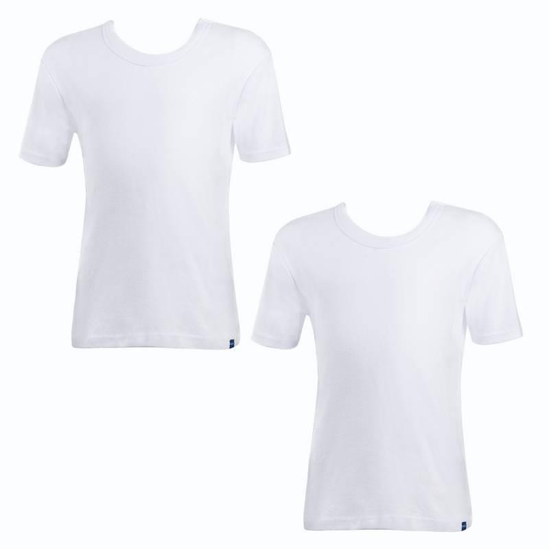 Camiseta infantil algodón manga corta unisex pack 2 MT4434 blanco