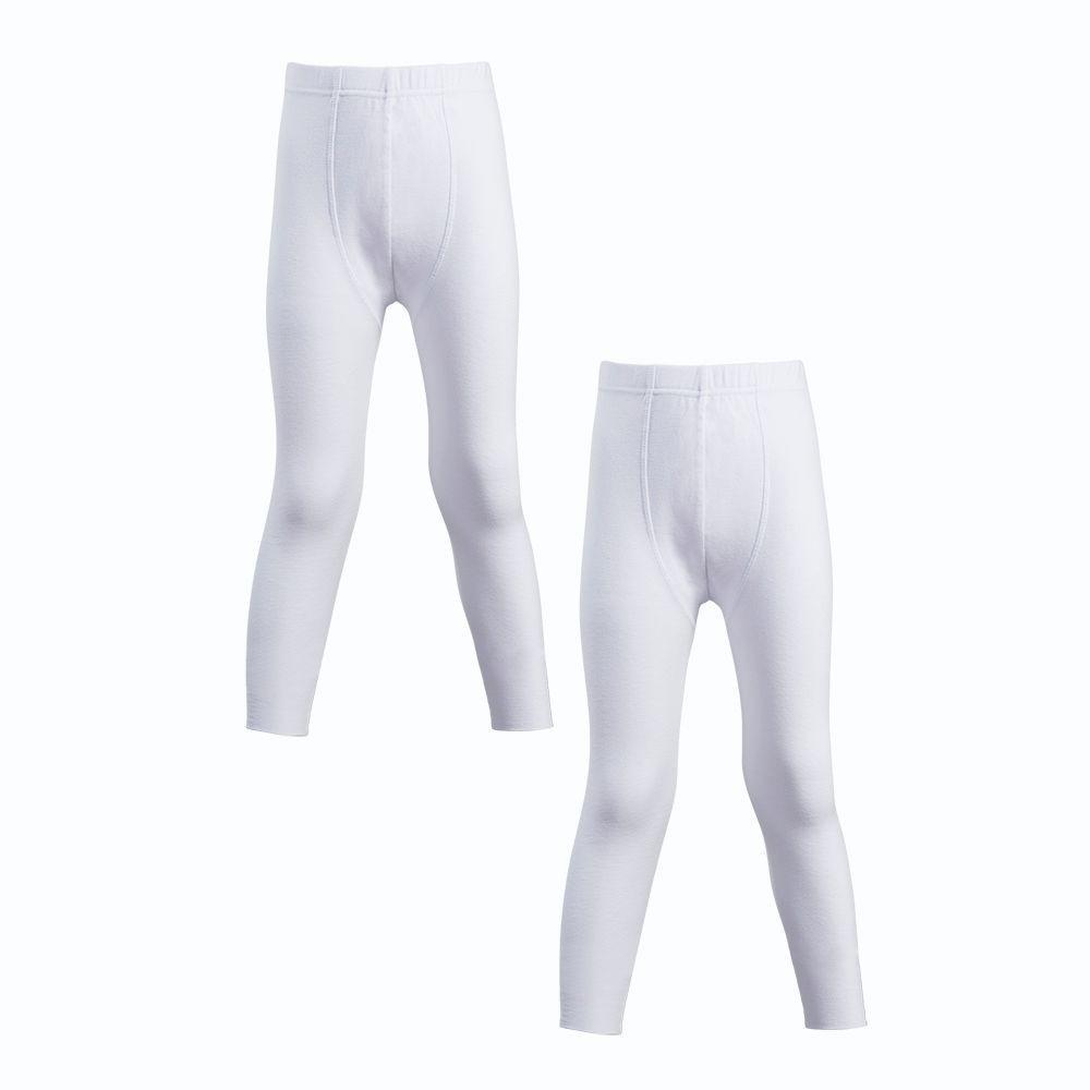 Calzoncillo largo algodón niño pack 2 MT4014 blanco