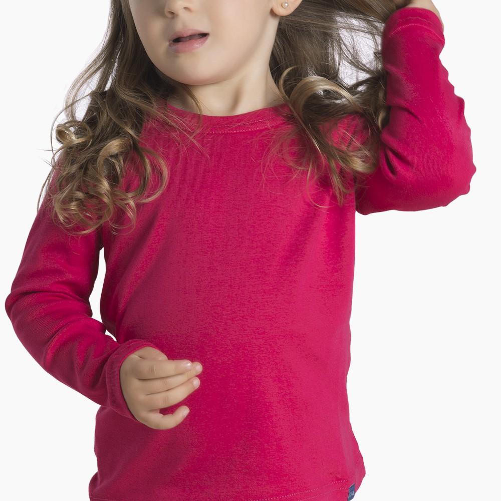 Camiseta infantil algodón manga larga unisex MT4435 fucsia