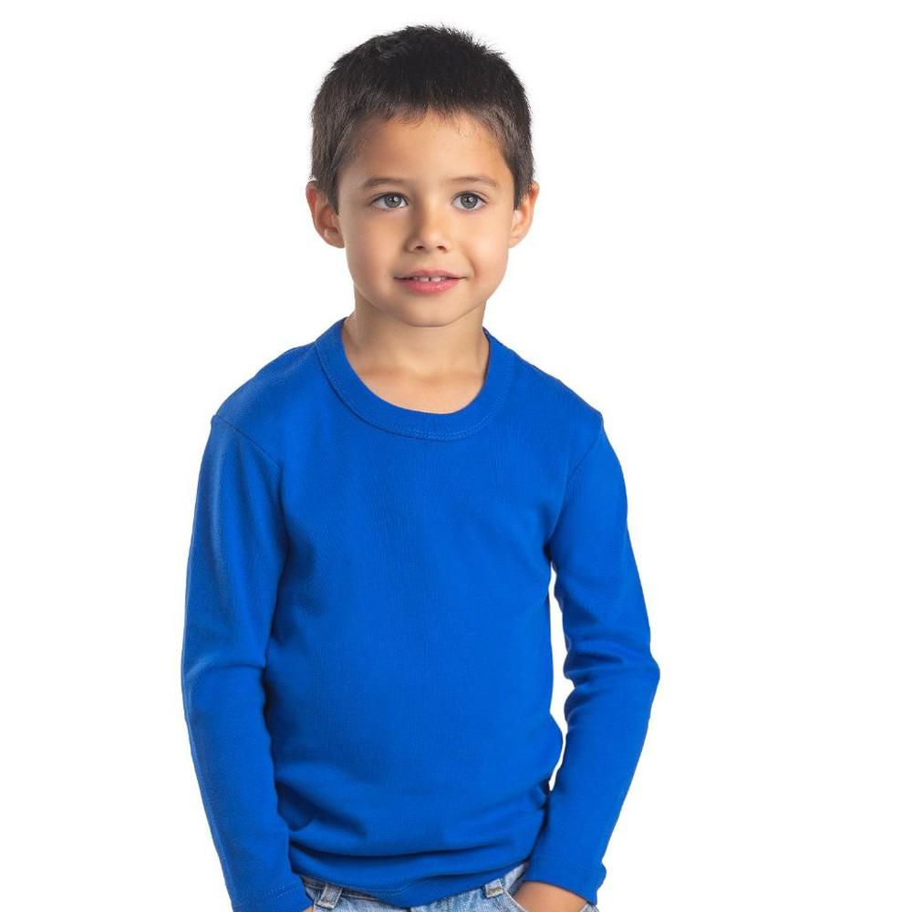 Camiseta infantil algodón manga larga unisex MT4435 azul