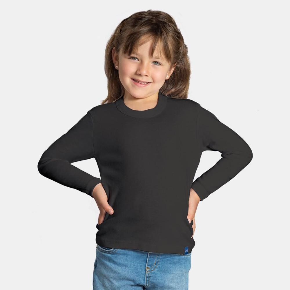Camiseta infantil algodón manga larga unisex MT4435 negro