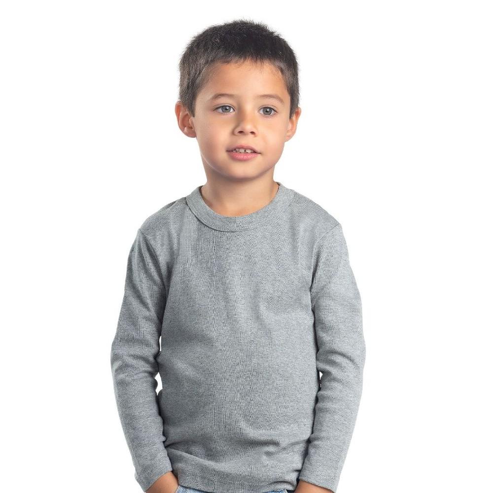 Camiseta infantil algodón manga larga unisex MT4435 gris Talla 6