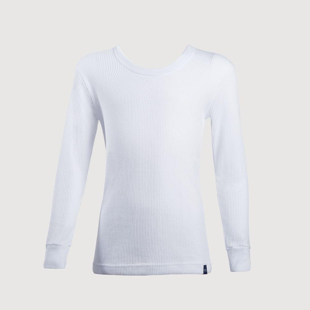 Camiseta infantil algodón térmica manga larga MT4439 blanco