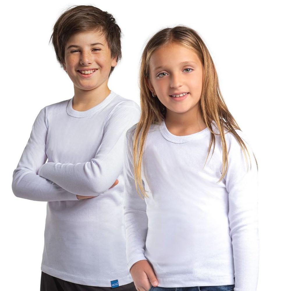 Camiseta juvenil algodón manga larga pack 2 MT4443 blanco