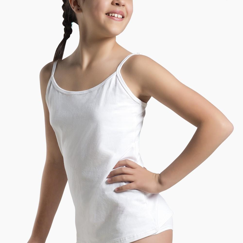 Camiseta pabilo juvenil algodón blanco
