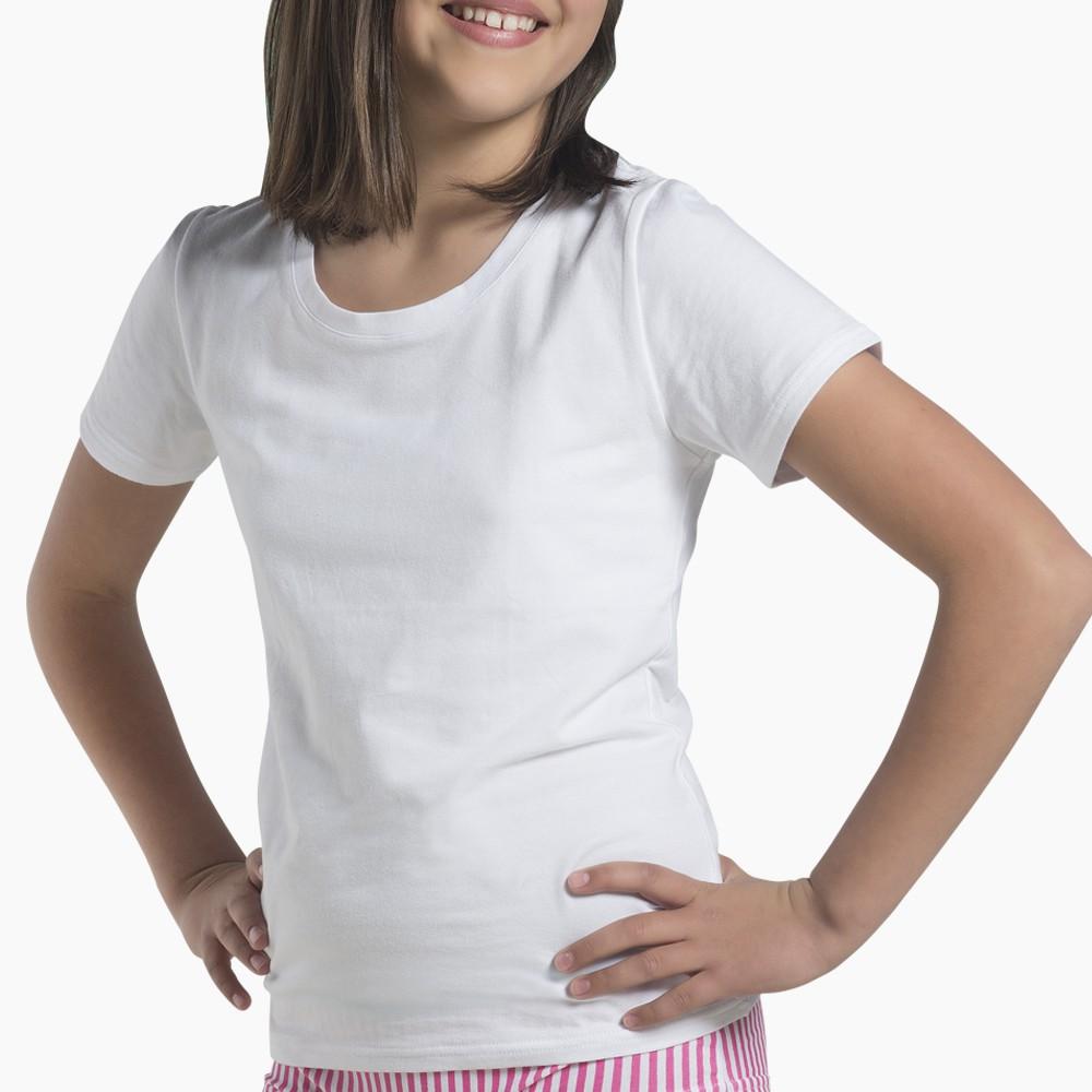 Camiseta juvenil algodón manga corta MT4512 blanco