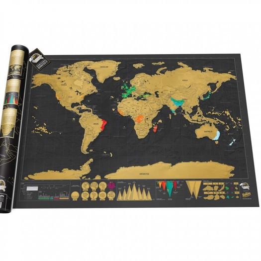 Scratch map delux 82.5 x 59.4 x 0.2 cm