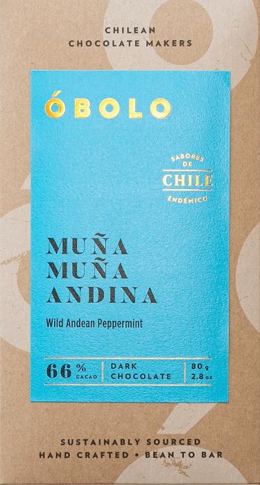 Barra Chocolate Vegano - Muña Muña Andina 66% Cacao Barra 80g