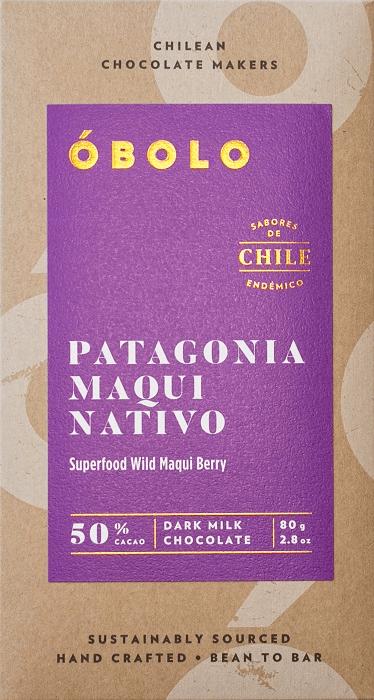 Barra Chocolate Patagonia Maqui Nativo 50% Cacao Dark Milk Chocolate Barra 80g