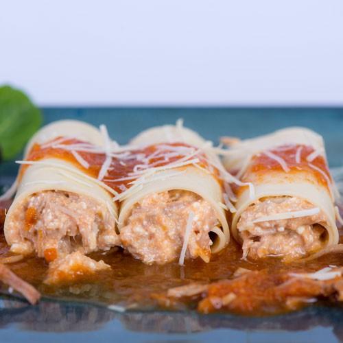 Cannelloni mechada 2 a 3 Porciones