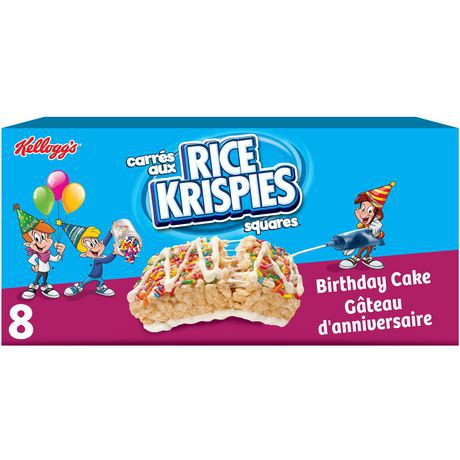 Fabulous Rice Krispies Squares Bars Birthday Cake At Home Cornershop Funny Birthday Cards Online Sheoxdamsfinfo