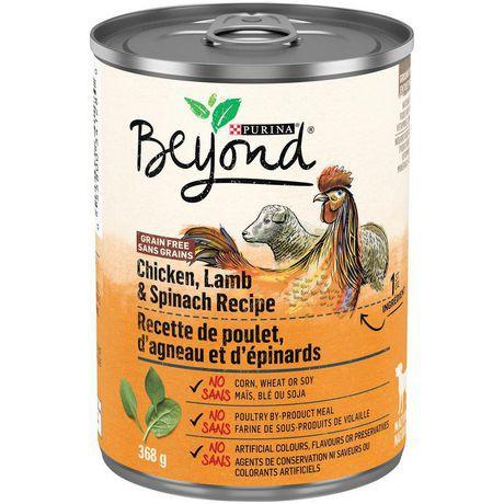 Beyond Natural Grain Free Wet Dog Food; Chicken, Lamb & Spinach Recipe