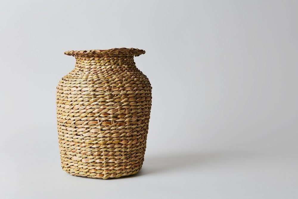 Florero de fibra vegetal