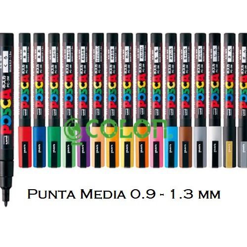 Marcador Permanente Punta Media - Plateado