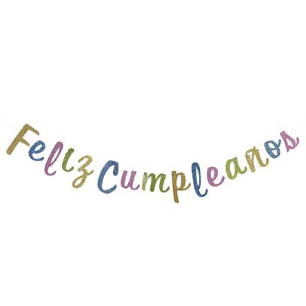 Guia Feliz Cumpleaños 3m 1pz  - Multi-Color