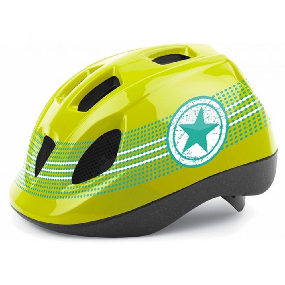 Casco bicicleta verde con estrella xs