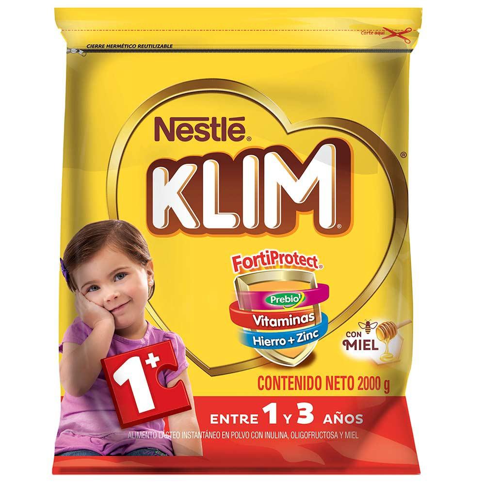 Alimento Lácteo instantáneo Klim 1+ con Prebióticos y miel