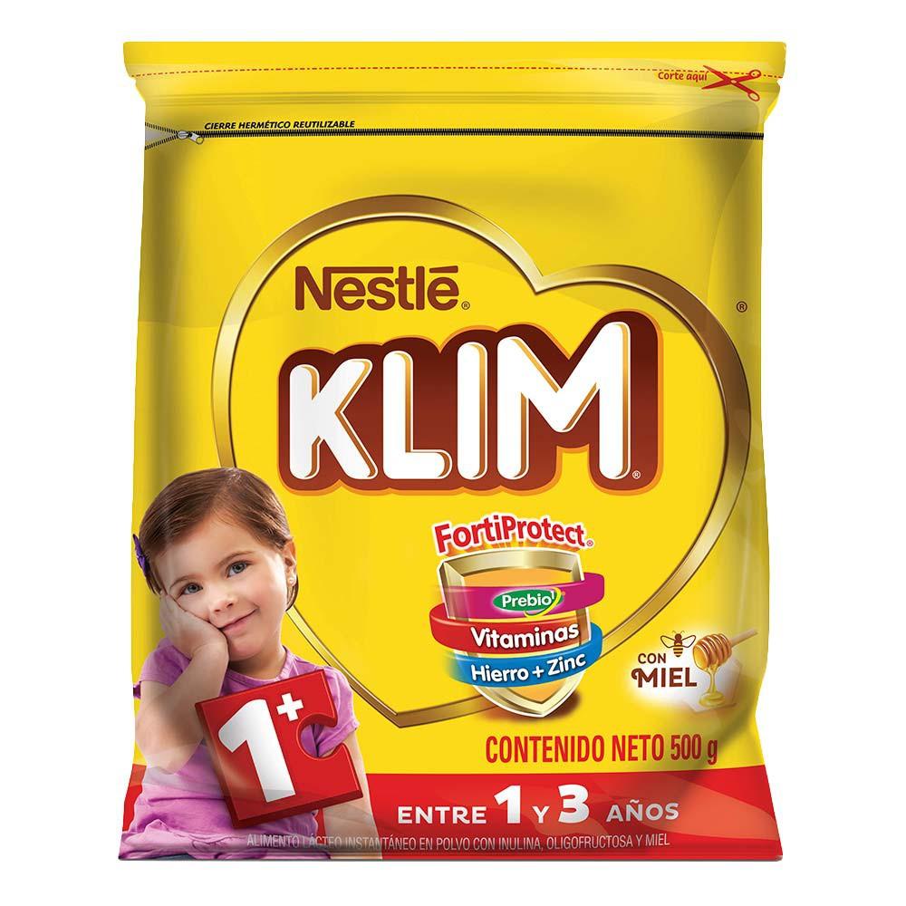 Alimento Lácteo en polvo Klim 1+ con Prebióticos y miel