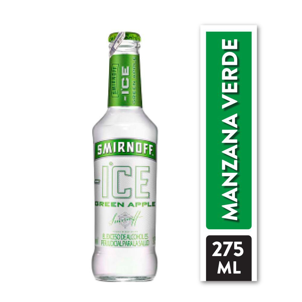 Cóctel green apple Botella 275 ml