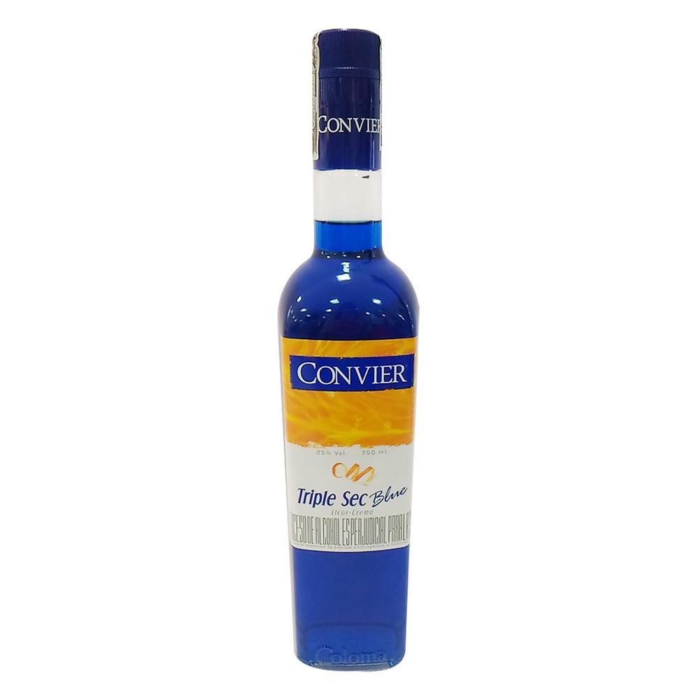 Licor convier triple sec azul