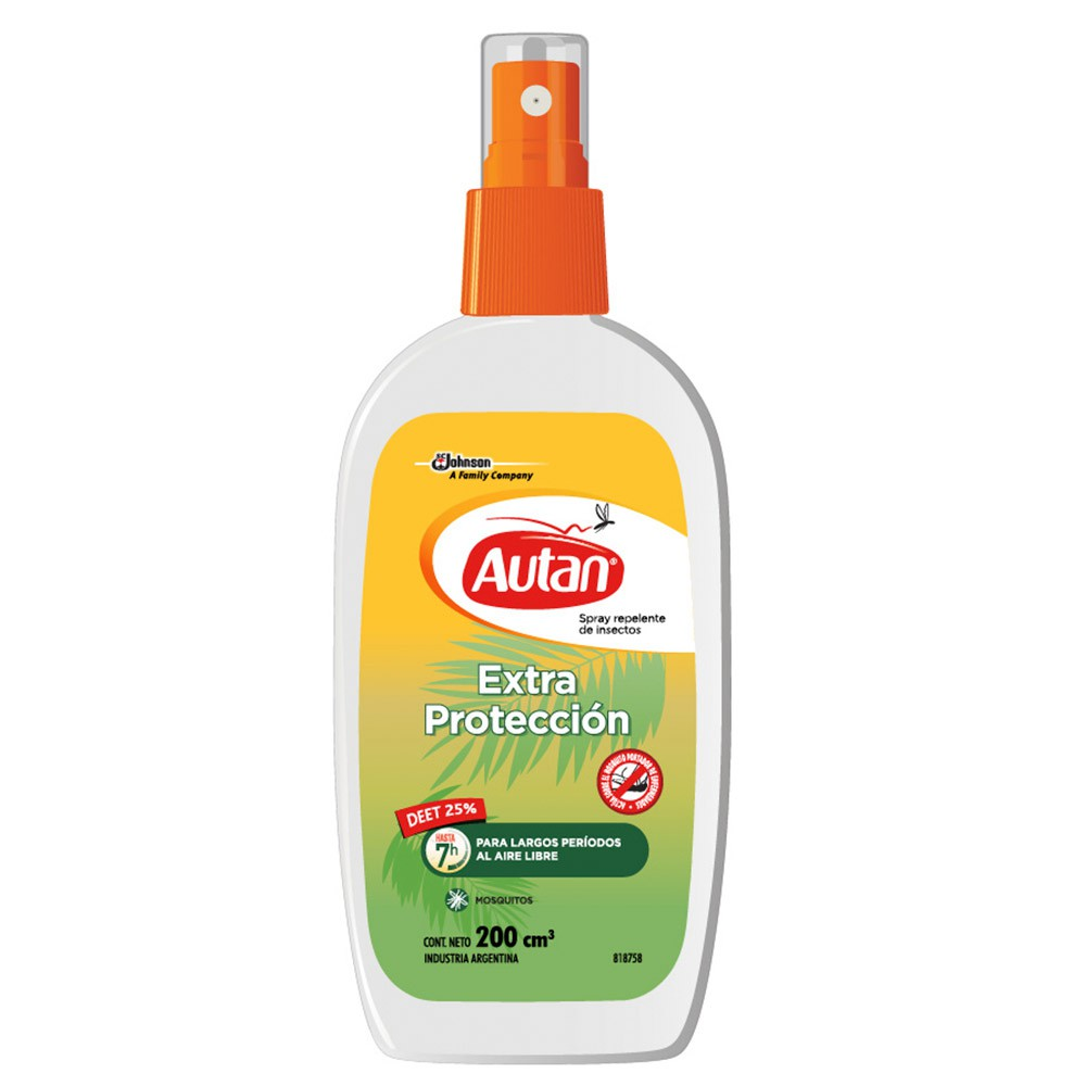 Spray Repelente De Insectos Extra Protección Para Largos Períodos al Aire Libre Autan