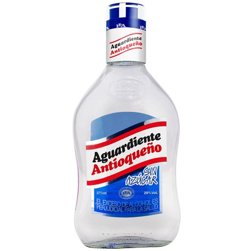 Aguardiente sin azúcar 375 ml
