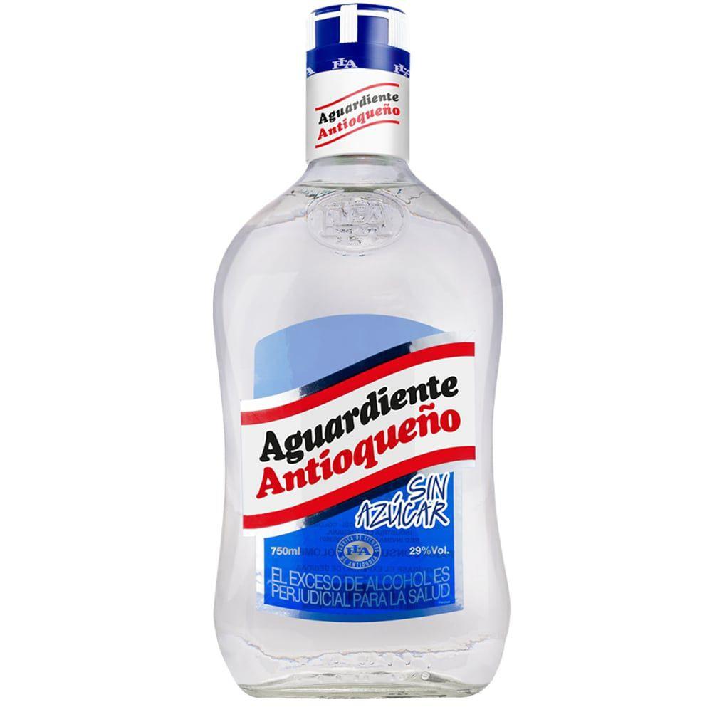 Aguardiente Antioqueño sin azúcar 29 vol 750ml