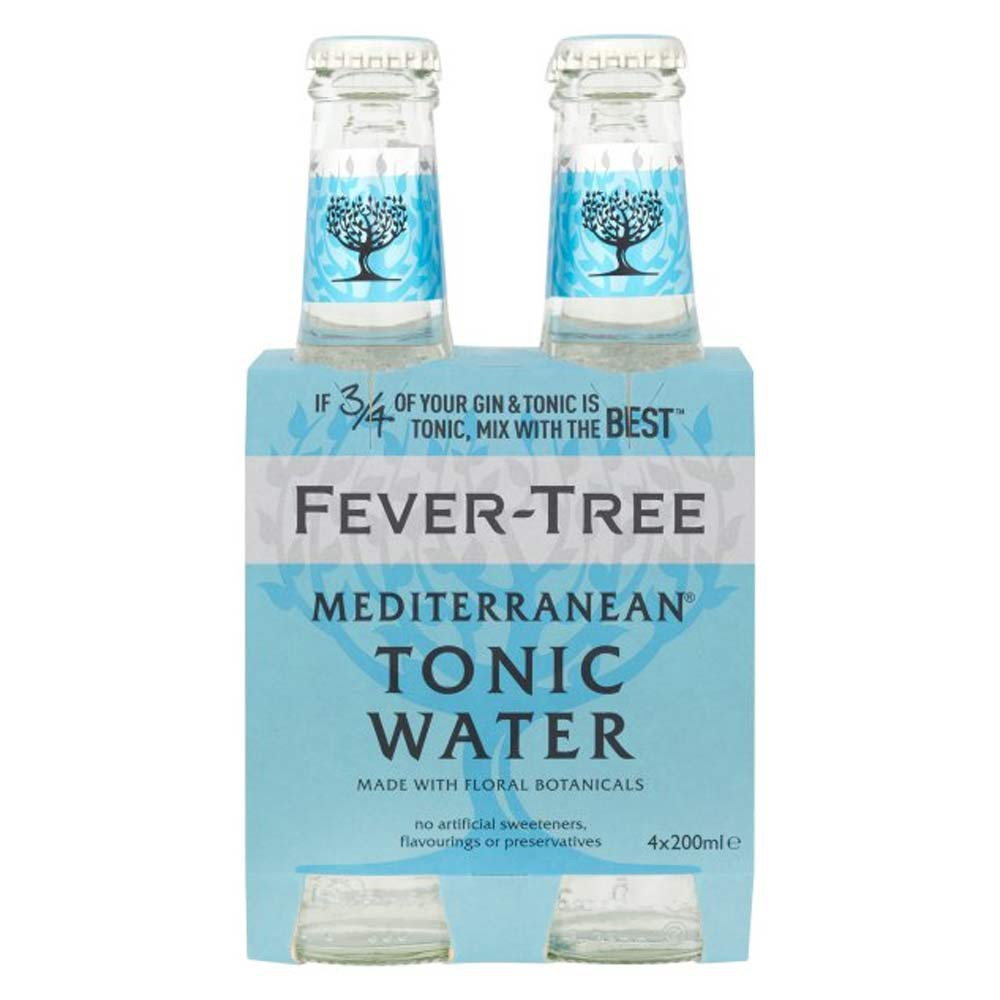 Agua tonica fevertree mediterranean fourpack