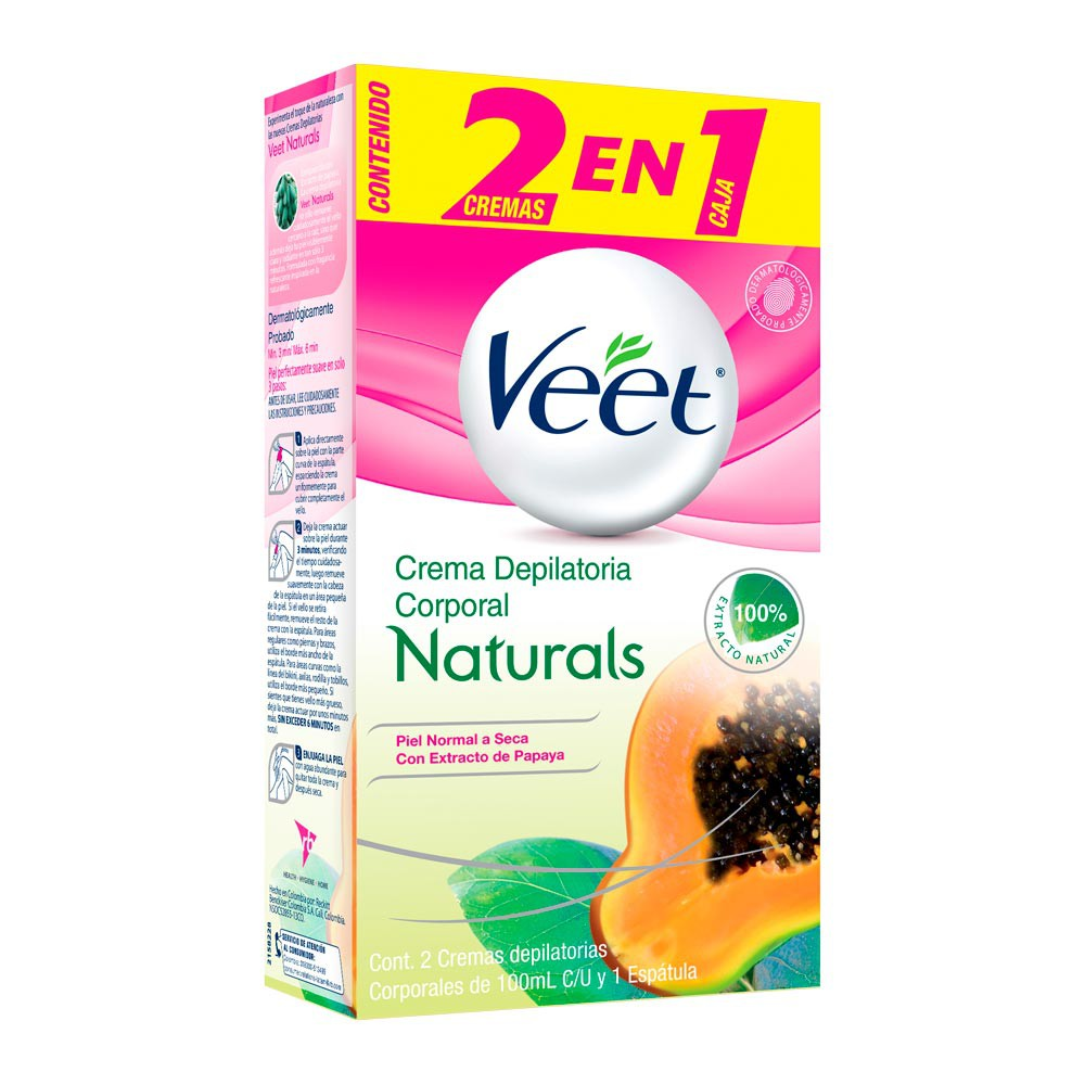 Crema depilatoria Veet corporal natural