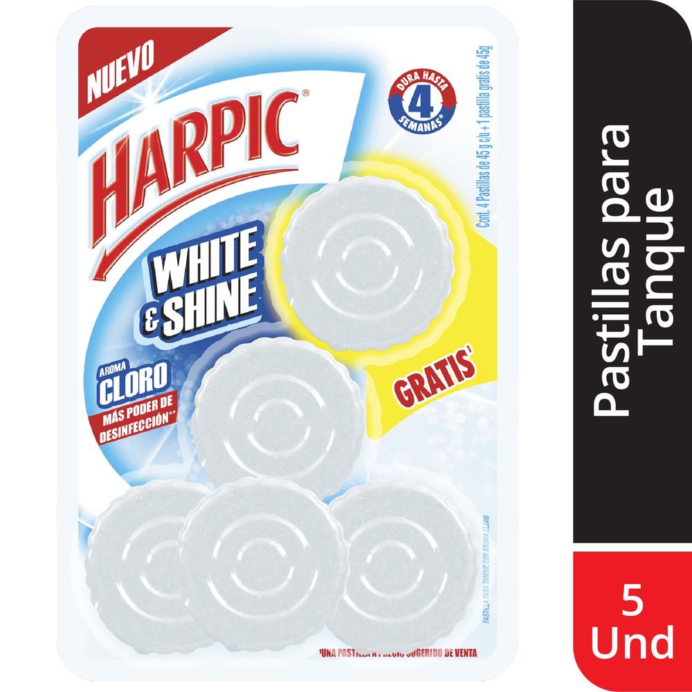 Desinfectante pastillas white & shine