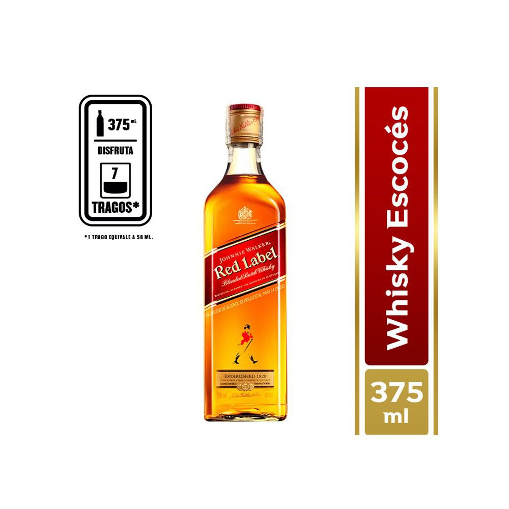 Whisky red label 375 ml