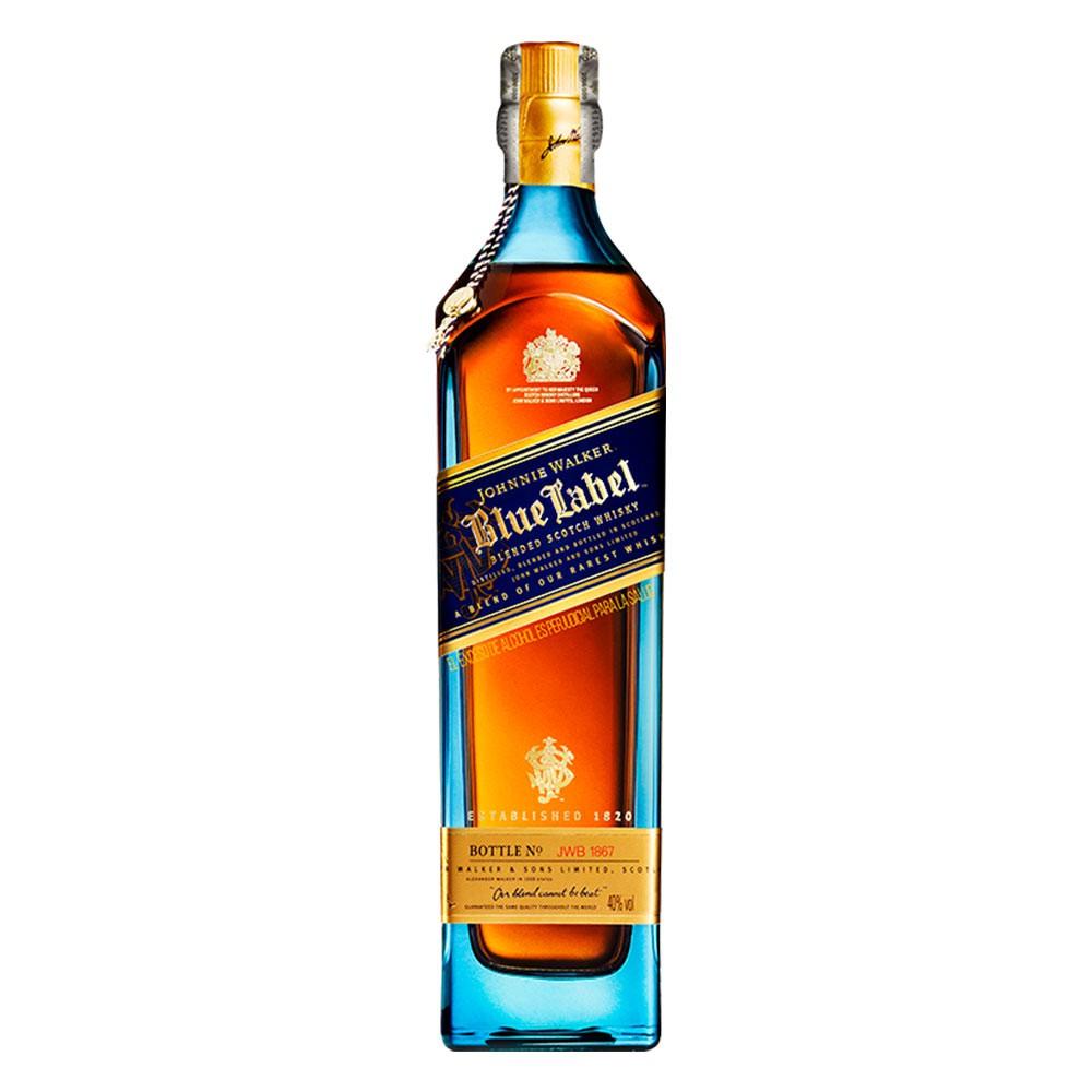 Whisky Johnnie Walker blue label botella