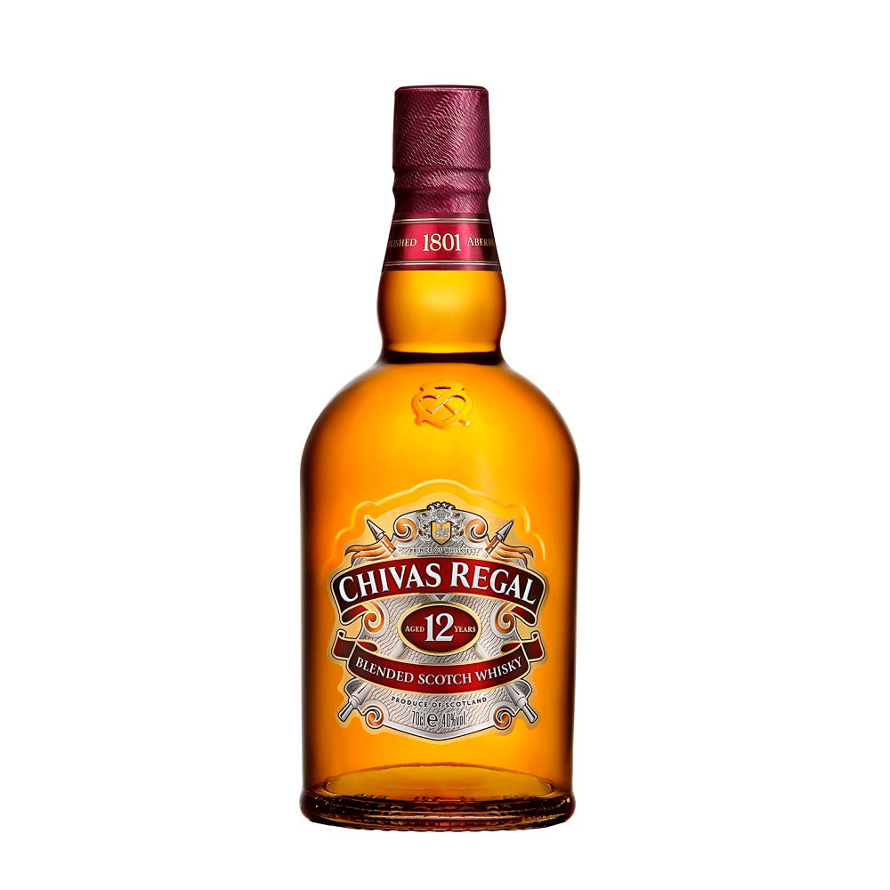 Whisky Chivas Regal 12 años botella