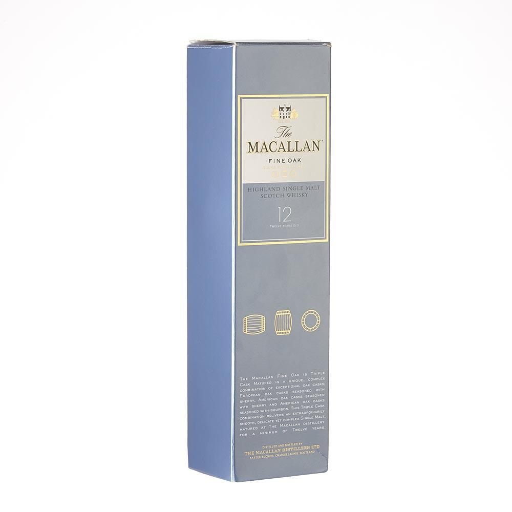 Whisky the macallan fine oak 12 años bot.x700ml