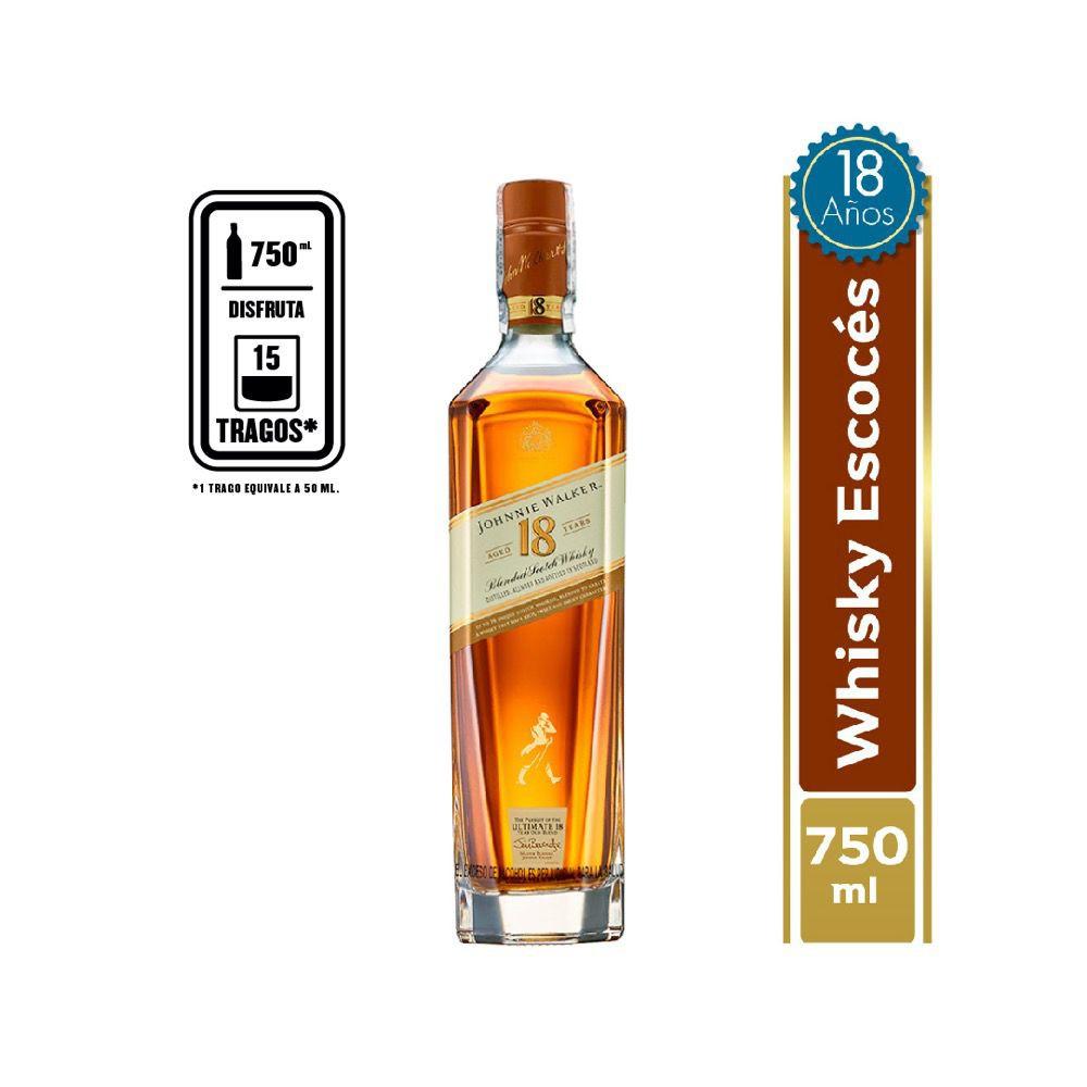 Whisky 18 años 750 ml