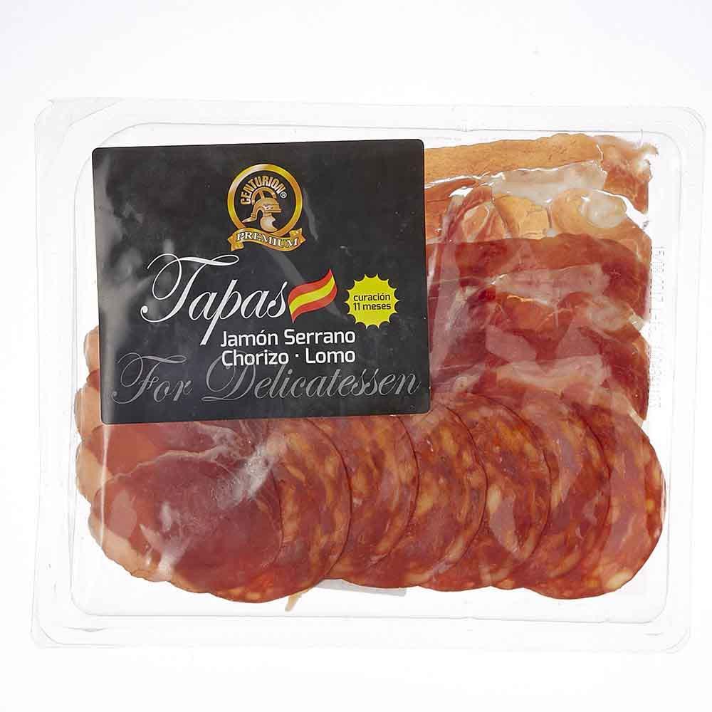 Tapas (jamón serrano chorizo lomo)