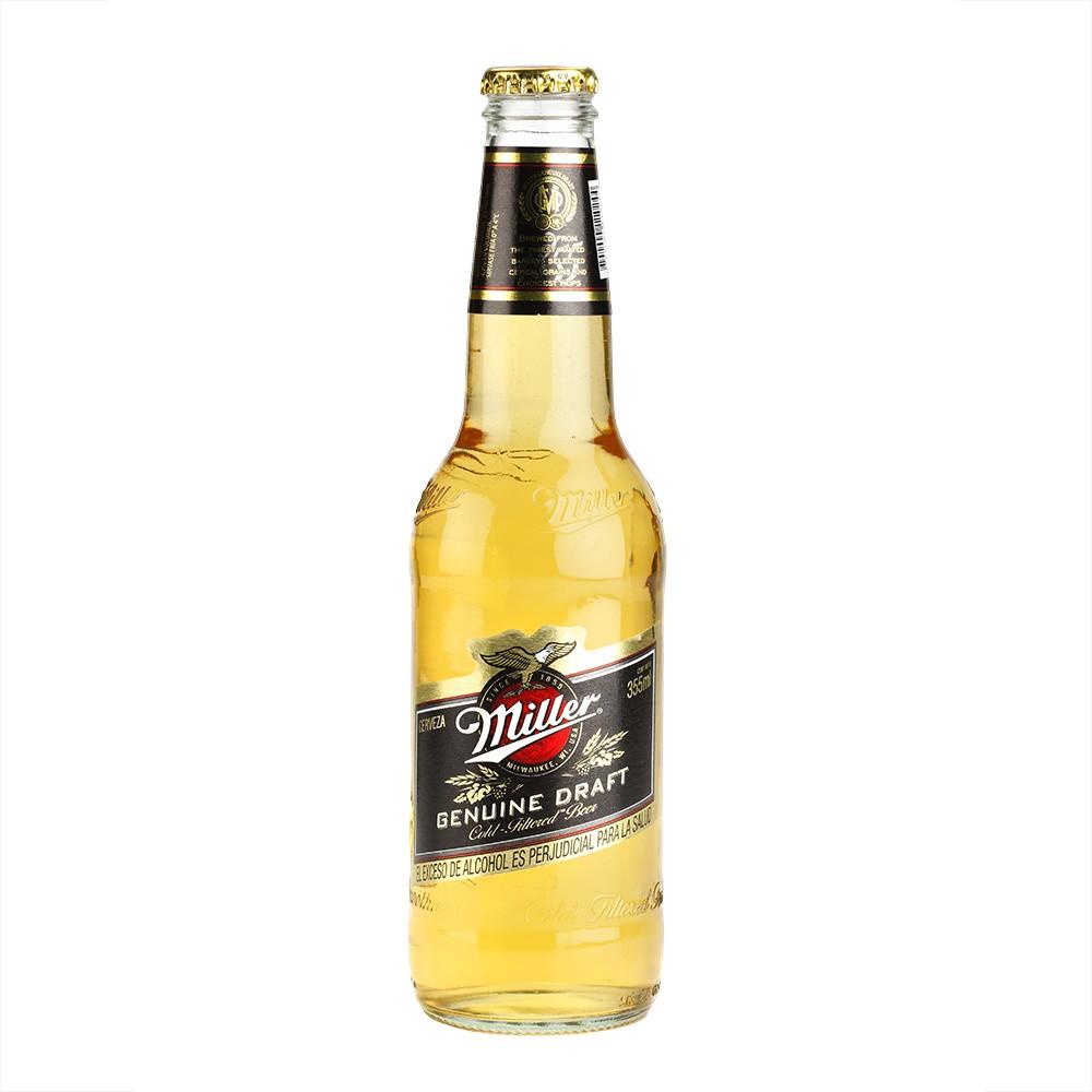 Cerveza Miller Genuine Draft Bot.