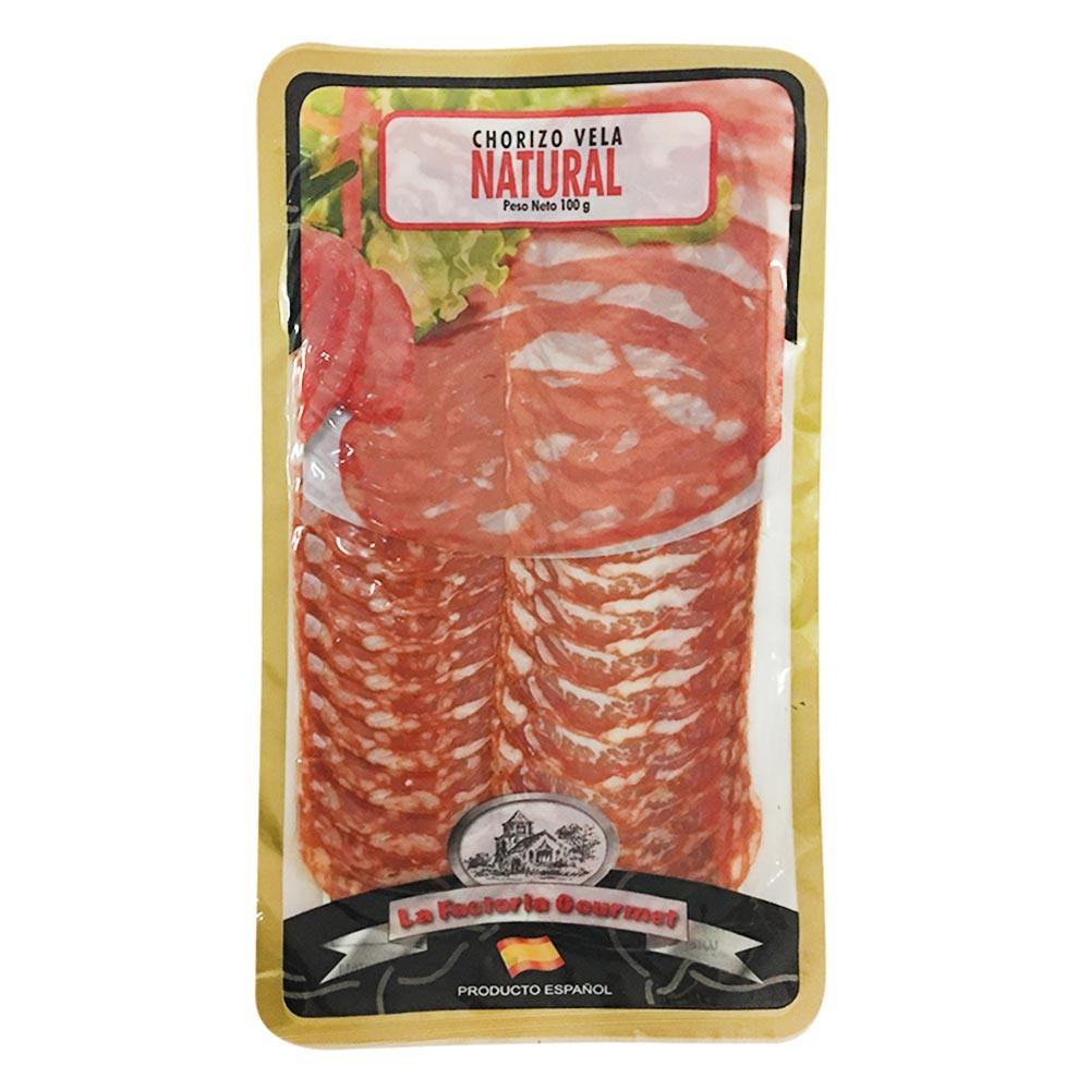 Chorizo Vela Natural La Factoría Gourmet 100g