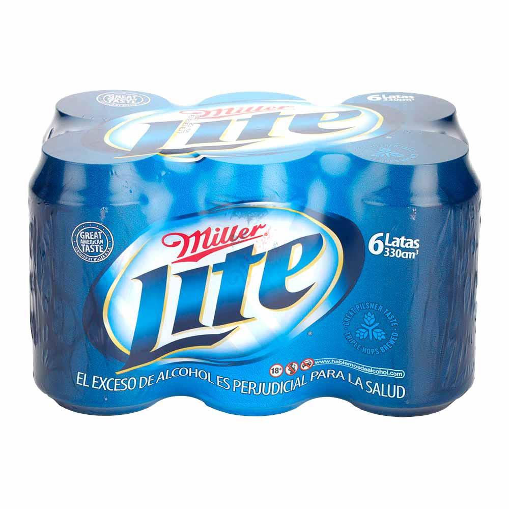 Cerveza Miller Lite Sixpack Lata