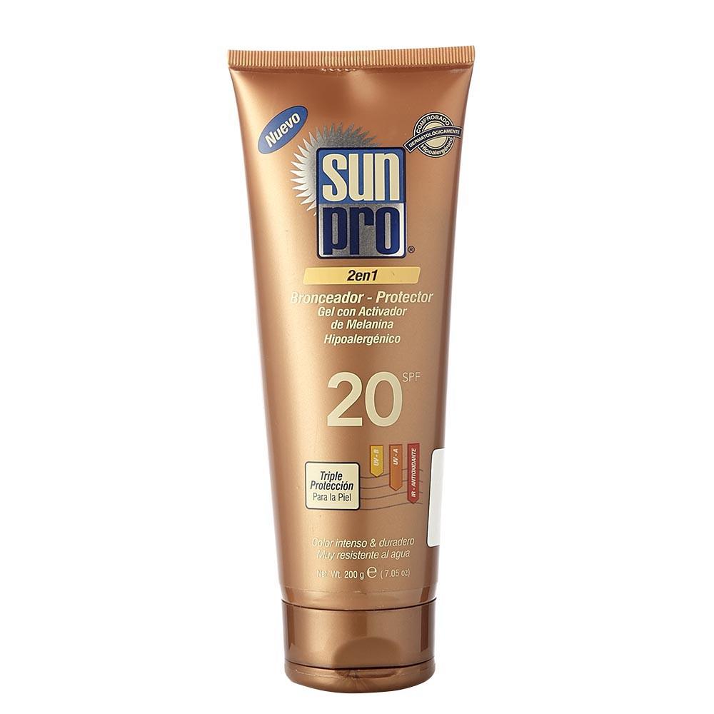 gel Bronceador y protector Sun Pro 2 en 1 spf