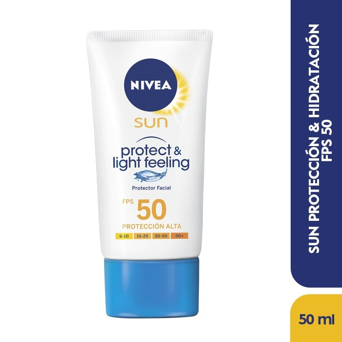 Bloqueador facial light feeling SPF 50