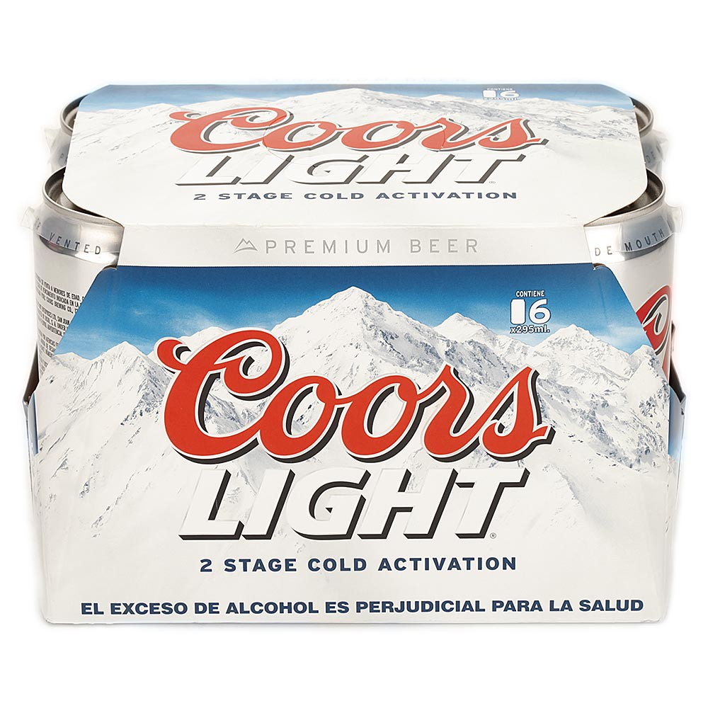 Cerveza Coors Light x 6 und Lata x 295ml c-u