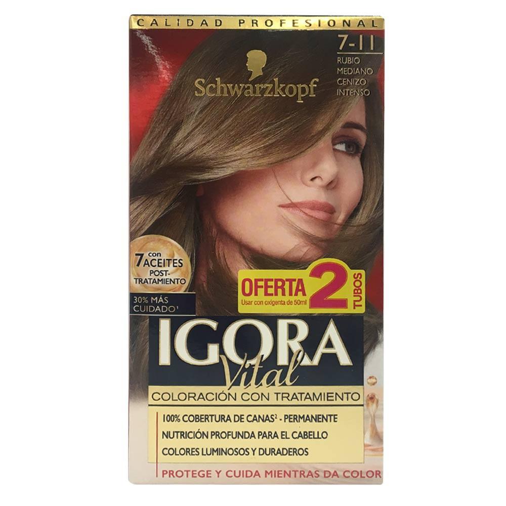 Kit Igora Vital coloración con tratamiento No.7-11